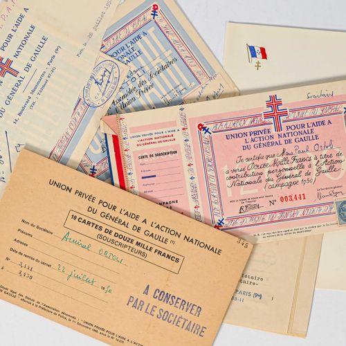 France Ensemble de documents, certificats et souches de l'Union Privée pour « l'…