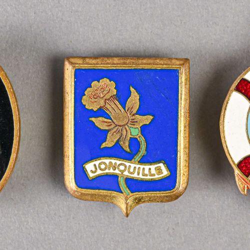 France Lot de trois insignes Navires Jonquille, Duperré et Valeureux  Le Duperré…