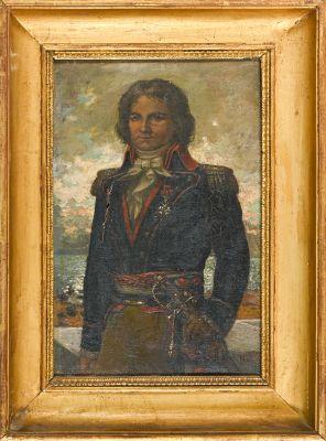 Ecole française du XIXe siècle Portrait de l'Amiral Castagnier Huile sur toile, …