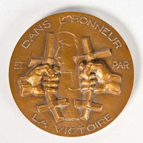 France Médaille de table de Compagnon de la Liberation attribuée à Paul Ortoli  …