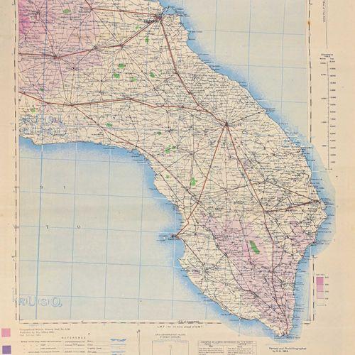 GRANDE BRETAGNE Fort lot de carte au 1:250 000ème de l'Italie en 1943 ayant appa…