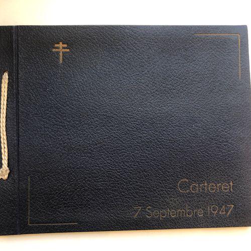 France Album photo « CARTERET 7 septembre 1947 «  Album photo gainé de similicui…
