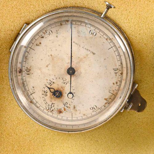 Chronomètre de la Marine Nationale en métal Constructeur Paul Garnier  D. 6 cm  …