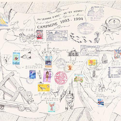 France Lot de 6 planches philatélique sur la campagne du Jeanne d'Arc en 1993 et…
