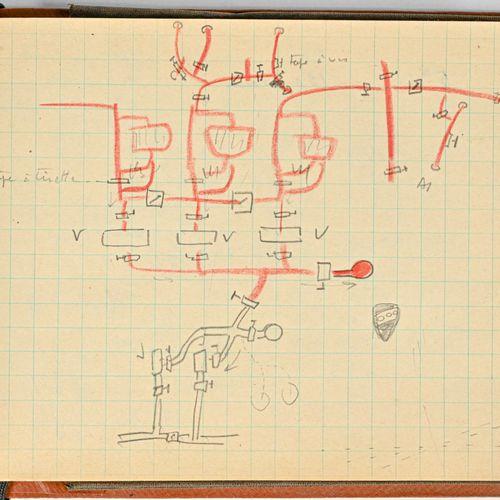 GRANDE BRETAGNE Field message book ayant appartenu à l'amiral Ortoli lorsqu'il c…