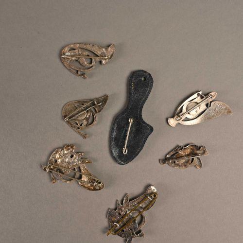 France Lot d'insignes chasseur  En métal, deuxième moitié du XXème siècle, époqu…