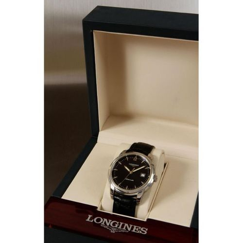 Longines, Saint Imier Collection, n°L27664, contemporary.  A large round steel w…