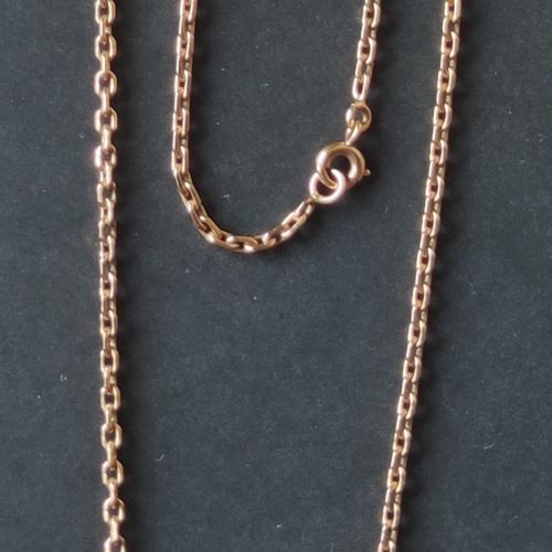 CHAIN with medal and pendant Egypt in yellow gold 750°/°°, Weight : 17,4 g Chain…