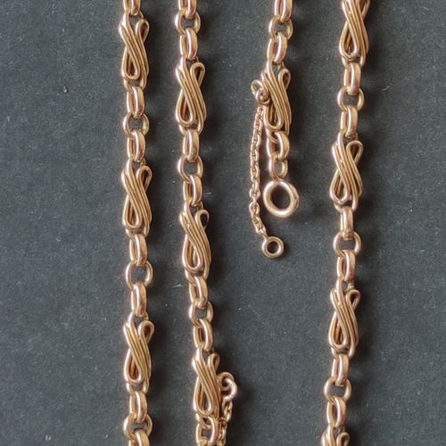 CHAIN in yellow gold 750°/°°, Length : 68 cm with safety chain Weight : 15.7 g