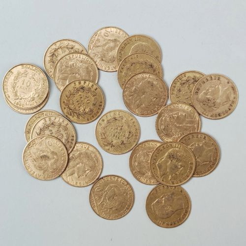 23 coins of 10 francs gold France, : Weight 73.5 g SELLING EXPENSES FOR THIS LOT…