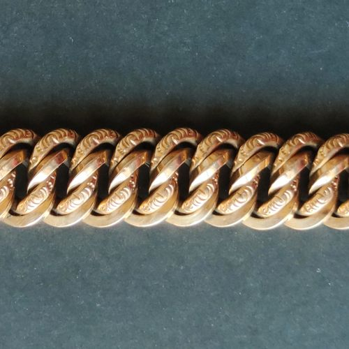 BRACELET in yellow gold 750°/00, American stitch. Weight : 43.5 g