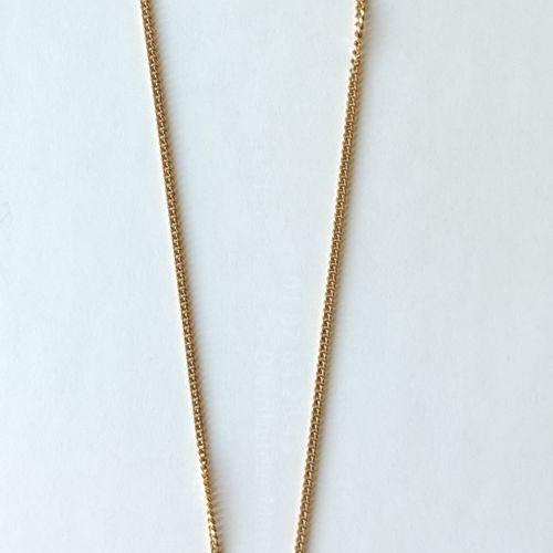 """CHAINE en or jaune 750°/°° Long. : 41cm Poids : 6.7 grammes avec Pendentif """"Perl…"""