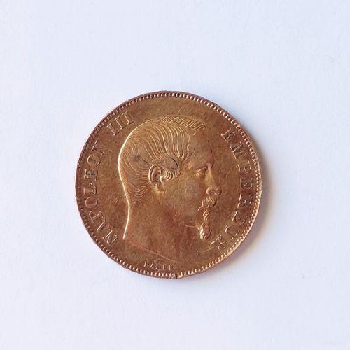 PIECE de 50 Francs or Napoléon III , tête nue, A 1857 Poids : 16.1 grammes. Frai…
