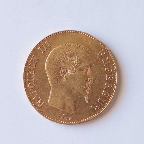 PIECE de 100 Francs or Napoléon III , tête nue, A 1858 Poids : 32.2 grammes Frai…