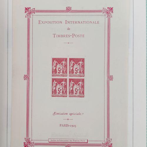 1 boite et 1 album de Timbres France Classique, SM et Moderne dont Sage, Mouchon…