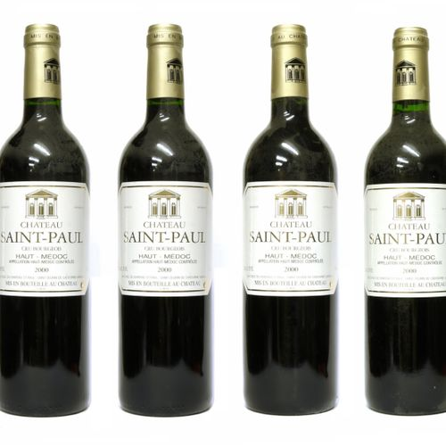 CHÂTEAU SAINT PAUL 2000 France, Bordeaux, Haut Médoc, Cru Bourgeois  Batch of 6 …