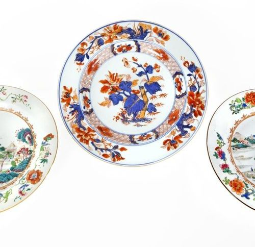 China, Qianlong period (1736 1795) Pair of porcelain plates from the Rose family…