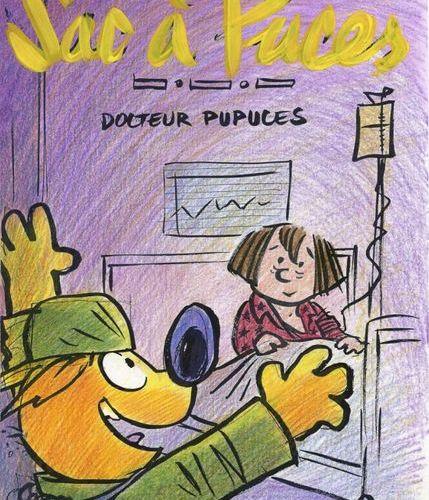 De Brab : Sac à Puces (Flea Bag), illustration with felt tip pens and coloured p…