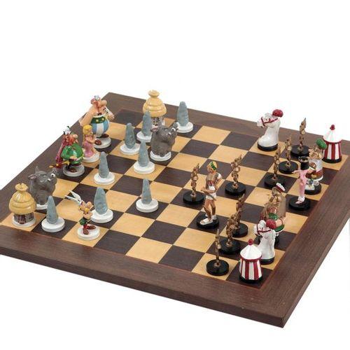 Uderzo : PIXI: Asterix, the chess set (40509), 32 pieces, 1991, n°/250, 42 cm, B…
