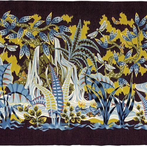 Simon CHAYE (1930) Claire Fontaine Tapestry woven at the Ateliers Hamot in Aubus…