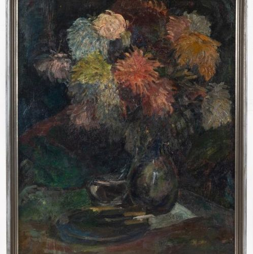 SHA Qi (1914 2005) (SADJI, SHA YINNIAN) Chrysanthemum or Chrysanthemum Bouquet O…