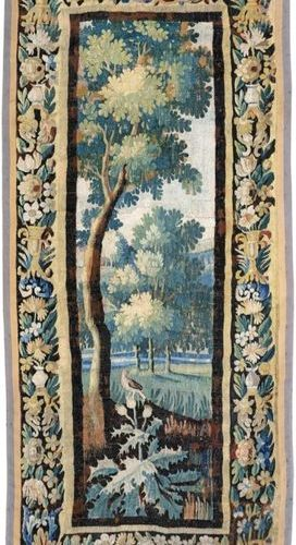Bird greenery Woollen tapestry with flowery borders Flemish work Late 17th centu…