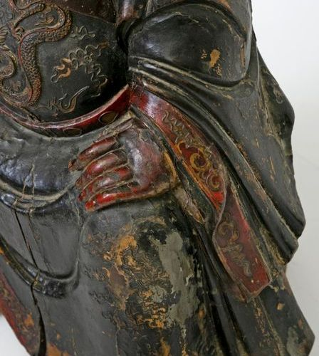 China, 17th century Rare and important carved and lacquered red, black and gold …