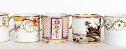 Collection of eighteen cylindrical cups, rounded towards the heel or lion and th…