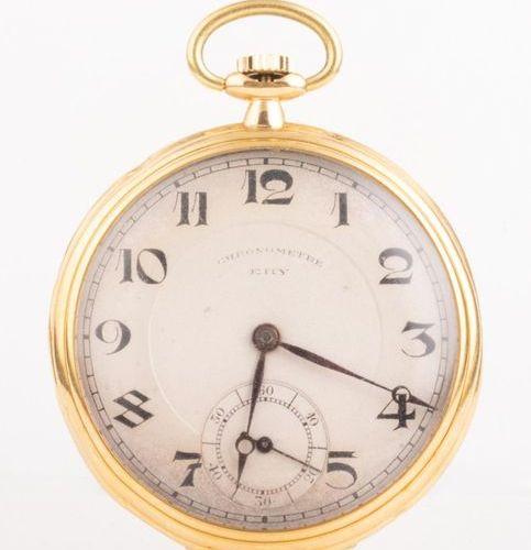ERY Chronomètre Montre de poche en or 18k (750 millièmes) Mouvement mécanique re…