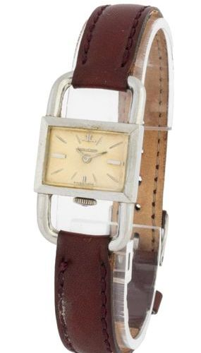 Jaeger LeCoultre Caliper light grey dial Steel on leather strap and pin buckle B…