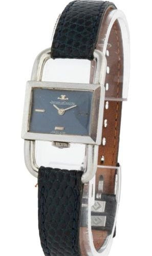 Jaeger LeCoultre Caliper blue dial Steel on leather strap and pin buckle Beautif…