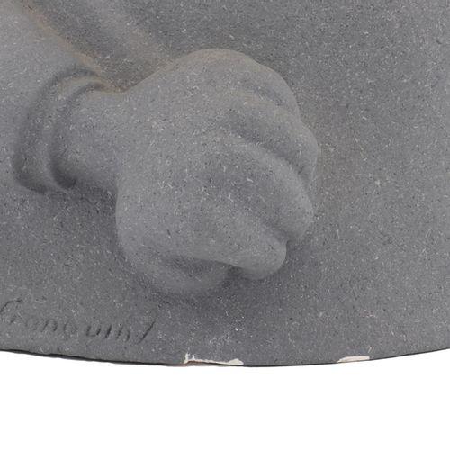 Franquin : LEBLON DELIENNE: Gaston, the bust of Demesmaeker (153), light grey sp…