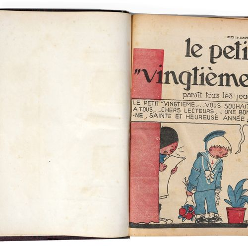 Petit Vingtième : Year 1931 in amateur binding containing the n°1 from January 1…