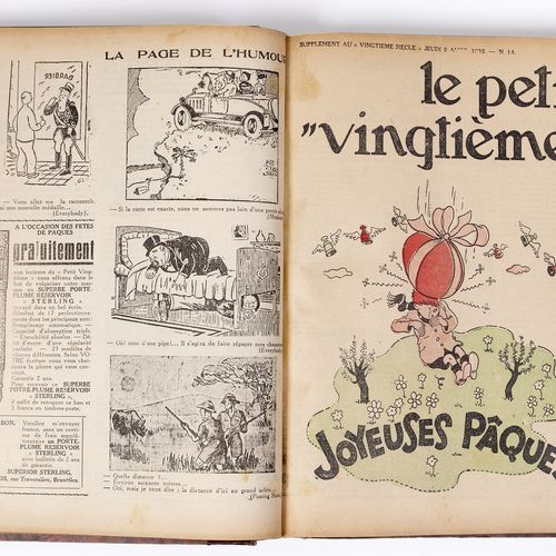 Petit Vingtième : Year 1936 in amateur binding containing the n°1 from January 9…