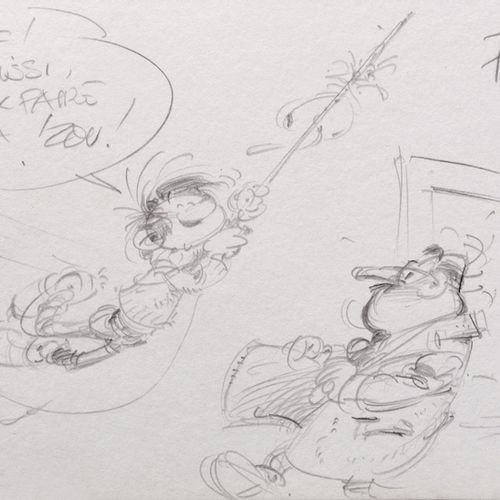 "Franquin : The Marsupilami, silkscreen print ""The Marsupilami Family"" n°HC 5/25,…"