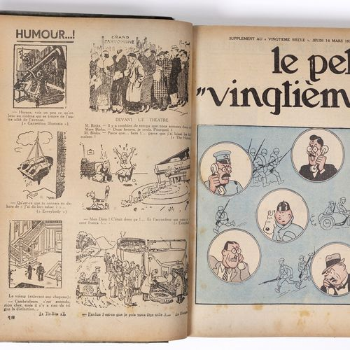 Petit Vingtième : Year 1935 in amateur binding containing the n°1 from January 3…
