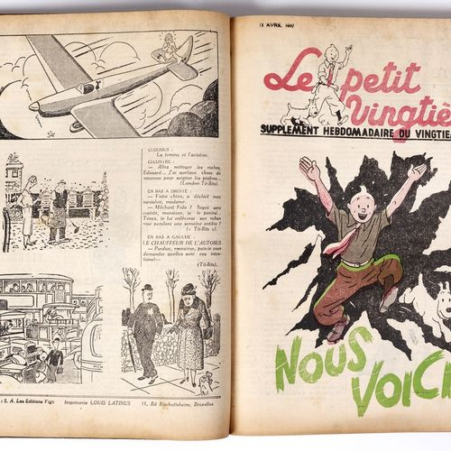 Petit Vingtième : Year 1937 in amateur binding containing the n°1 from January 7…