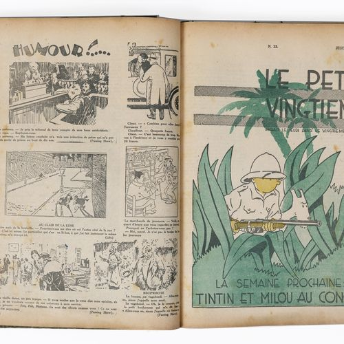 Petit Vingtième : Year 1930 in amateur binding containing the n°1 from January 1…