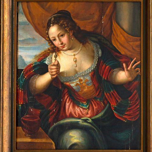 Atelier de Maerten DE VOS (Anvers, 1532 1603) Une Allégorie des cinq sens, le Go…