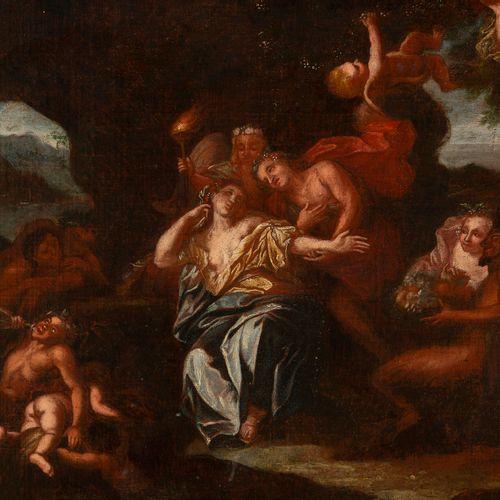 École nordique, fin XVIIe siècle Bacchus et Arianeavec satyres et ménades Huile…