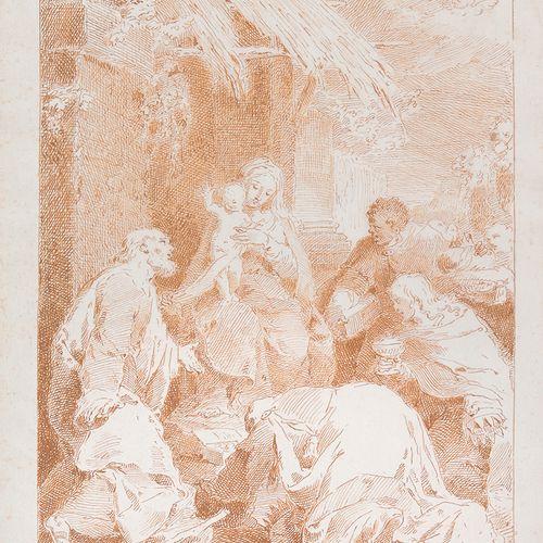 Pietro Antonio NOVELLI (Venise, 1729 1804) L'Adoration des Mages Plume et encre …