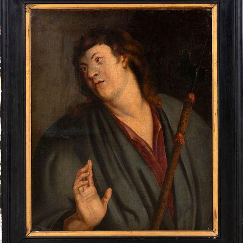 École flamande ou vénitienne, début XVIIe siècle Portrait d'un hallebardierou …