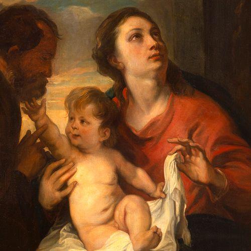 D'après Antoine VAN DYCK (Anvers, 1599 Londres, 1641), XIXe siècle La Sainte Fam…