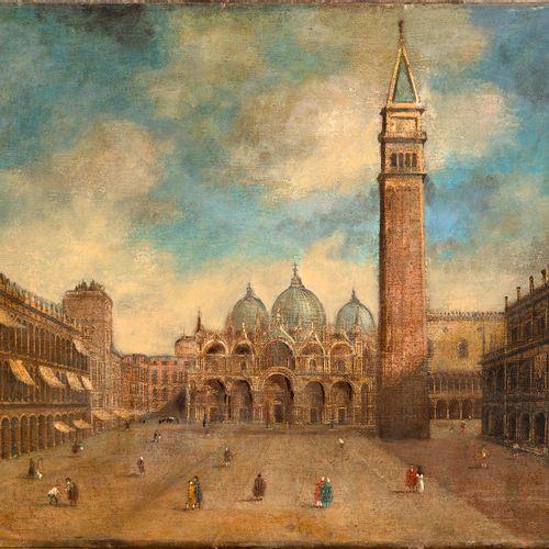 Suiveur de Francesco GUARDI (Venise,1712 1793) Place Saint Marc à Venise Huile…