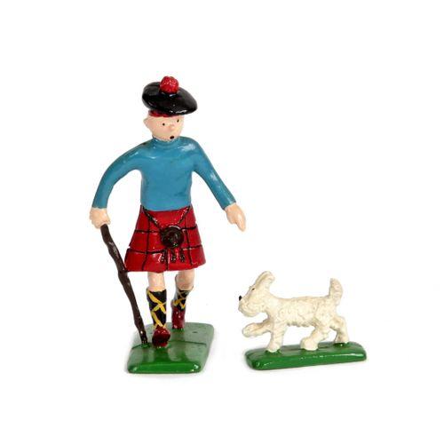 Hergé : PIXI : Tintin, 4511, écossais avec Milou, L'Ile noire, 1990, 2750 ex., 3…