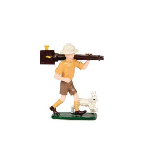 Hergé : PIXI : Tintin, 4503, explorateur caméra, Tintin au Congo, 1990, 3500 ex.…