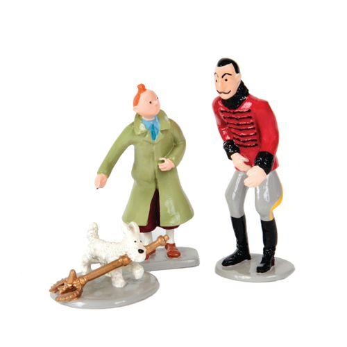 Hergé : PIXI : Tintin, 4525, avec Milou sceptre et le roi, Le Sceptre d'Ottokar,…