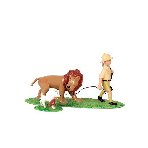 Hergé : PIXI : Tintin, 4561, le lion dompté par Milou, Tintin au Congo, 1994, 16…