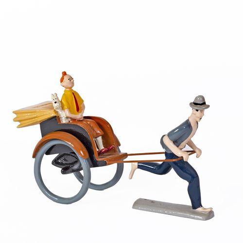Hergé : PIXI : Tintin, 4513, le pousse pousse, Le Lotus bleu, 1991, 1000 ex., 20…