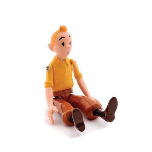 Hergé : PIXI : Tintin, 2500, articulé chemise jaune, Les Cigares du pharaon, 199…